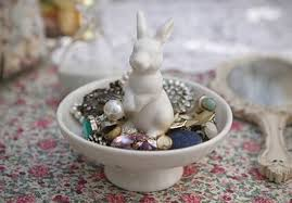 ceramic rabbit ring holder images Ceramic rabbit trinket or ring dish jpg
