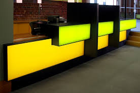 Illuminated Reception Desk Elumanation Projects