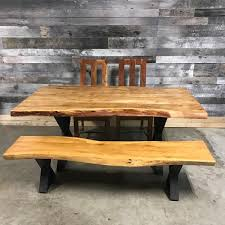 Acacia Wood Dining Table Acacia Live Edge Wood Table With Black X Leg Rustic Furniture Outlet