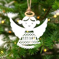 children u0027s christmas decoration personalised angel