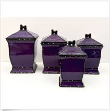 purple kitchen canister sets purple canister set 4 food storage kitchen ceramic jars lids