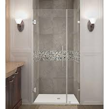 fixed shower doors showers the home depot frameless hinged shower door in