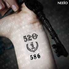 famous number tattoos and ideas page 29 golfian com