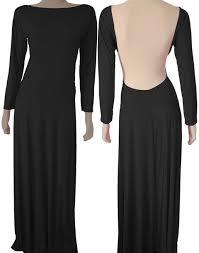 dress backless maxi backless dress black prom dress