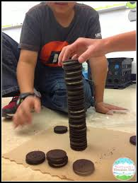 oreo stacking contest for mean median mode lesson teaching