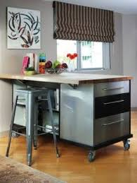 second kitchen island a second kitchen island serves as a desk and bookshelf and