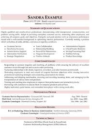 customer service resume exle a well written resume exle that will help you to convey your