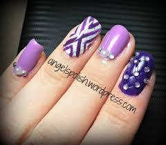 65 purple and silver nail art design ideas