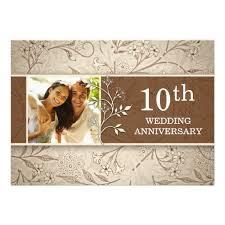 10th wedding anniversary wedding anniversary photo invitation card