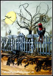 halloween cemetery fence ideas corner of plaid and paisley halloween graveyard mantel st