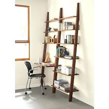 Leaning Bookshelf With Desk Bookcase Crate And Barrel Leaning Bookshelf Desk Bookshelf