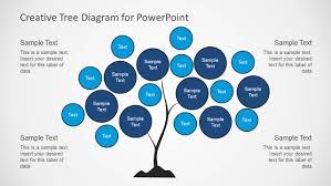 tree chart diagram design for powerpoint slidemodel