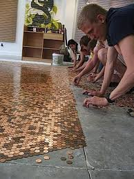 idee sol cuisine l idée déco du dimanche un sol avec des pièces de monnaie