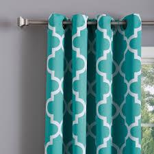 aurora home moroccan tile 96 inch window curtain panel pair free