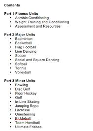 common core for physical education
