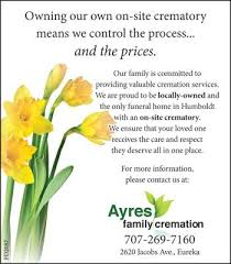 all california cremation ayres family cremation funeral service cemetery eureka