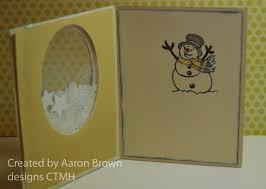 booth 32 christmas shaker card