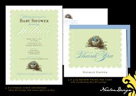 nealon design bird u0027s nest baby shower invitation