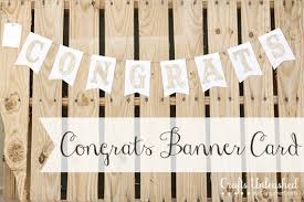 wedding congratulations banner congratulations banner card