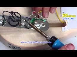 wiring a telmaster guitar kit youtube