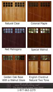 Colors For Front Doors by Wood Overhead Garage Door Stain Ideas Need Help Deciding On A