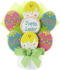 easter egg decorated cookie bouquet