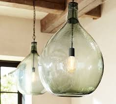Seeded Glass Pendant Light Clift Oversized Glass Pendant Pottery Barn