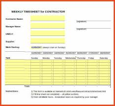 Free Timesheet Template Excel Timesheet Template Sop Format Exle