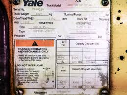 yale model gdp 50 mf e2348 diesel powered fork lift truck on