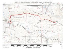 Buckeye Trail Map Hole In The Ground Mtn Trail Ouachita Forest 7 Mi O U0026b