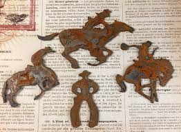 wild west large rusted metal cowboys western decor country western