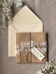 burlap wedding invitations custom listing 100 eco recycling lace wedding invitation burlap