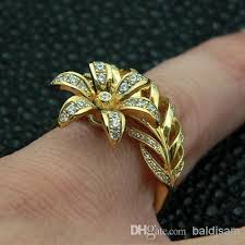 flower design rings images 2018 on sale solid 14k yellow gold diamond unusual unique flower jpg