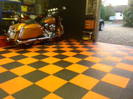Interlocking Garage Floor Tiles Co Ordinated Colours For Harley And Garage Floor