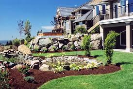 Landscaping Ideas For Sloped Backyard Backyard Landscaping Ideas Sloped Yard Outdoor Furniture Design