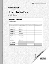 outsiders student journal