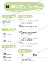 sorority resume template resume contact brookegudgel gmail resume sorority