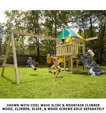 Diy Backyard Swing Set Wrangler Play Set Hardware Kit For Diy Fun By Swing N Slide