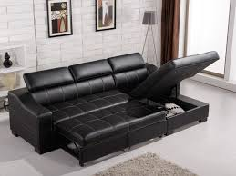 Black Leather Sleeper Sofa Epic Black Leather Sleeper Sofa 37 For Your Office Sofa Ideas With