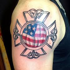 american flag maltese cross tattoo tattooic