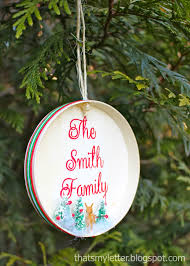 family name ornaments handmade ornament no 8