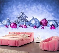 Wohnzimmer Bar Restaurant Benutzerdefinierte Mural Ferien Weihnachten Schnee Balls Baum