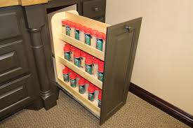 Kitchen Cabinets Slide Out Shelves by Kitchen Pull Out Spice Rack For Deliver More Goods To You