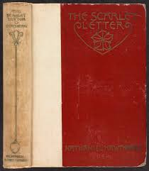 the scarlet letter spine and front cover digital commonwealth