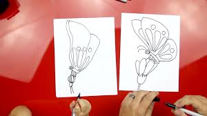 how to draw a butterfly on a flower art for kids hub