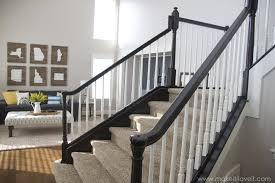 Banister Paint Ideas Painted Stair Railings Best 25 Black Stair Railing Ideas On