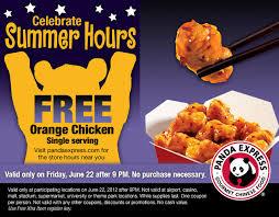 summer hours free orange chicken panda express utah sweet savings