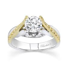 two tone wedding rings barkev s two tone engagement ring 7128lyd
