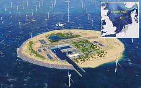 North Sea Map Denmark Germany Netherlands To Create Wind Energy Hub Island In