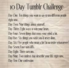 Challenge How Do U Do It Ma Vie Est Mon Message Ten Day Challenge